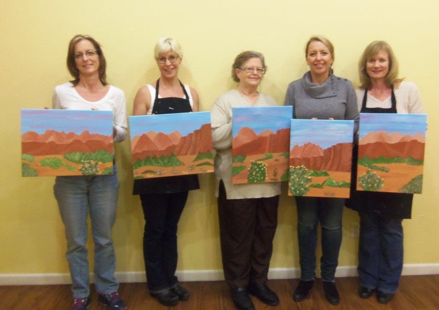 Girls' Night Out Sociall Painting in Sedona