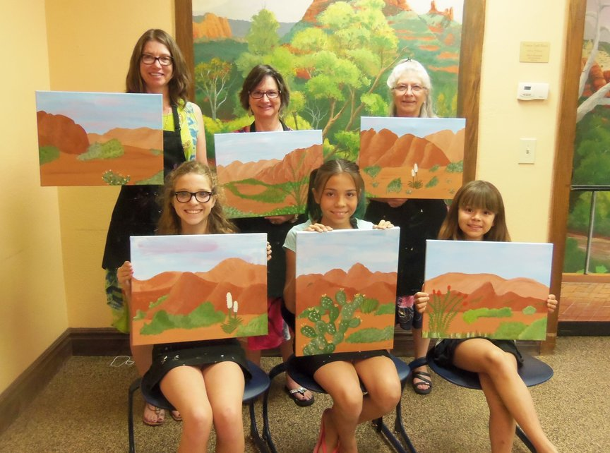 Social Painting at a Sedona Resort