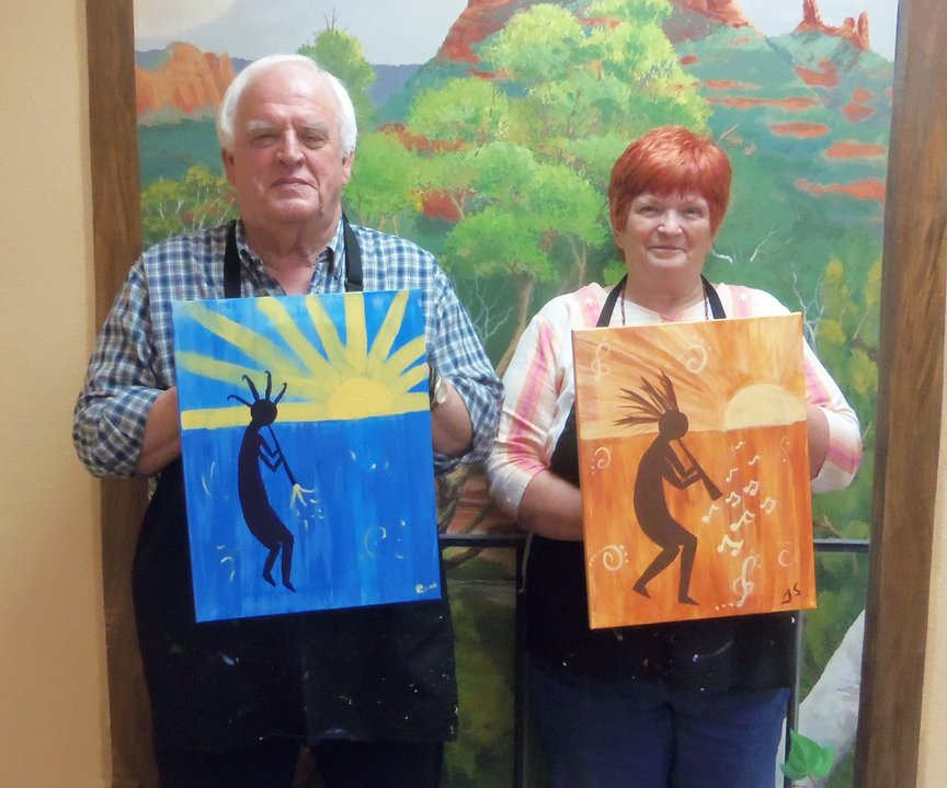First Time Painters have success at paint-along in Sedona