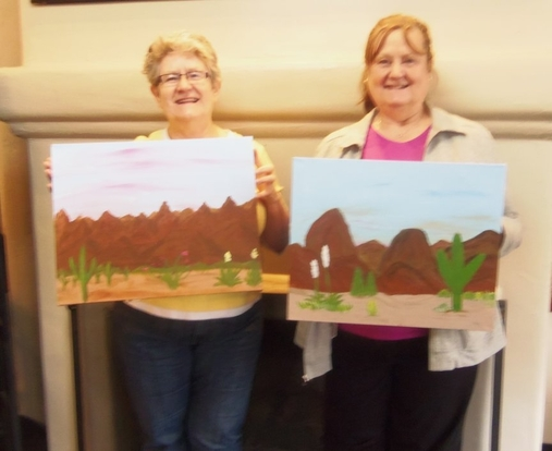paint-along fun in Sedona, AZ