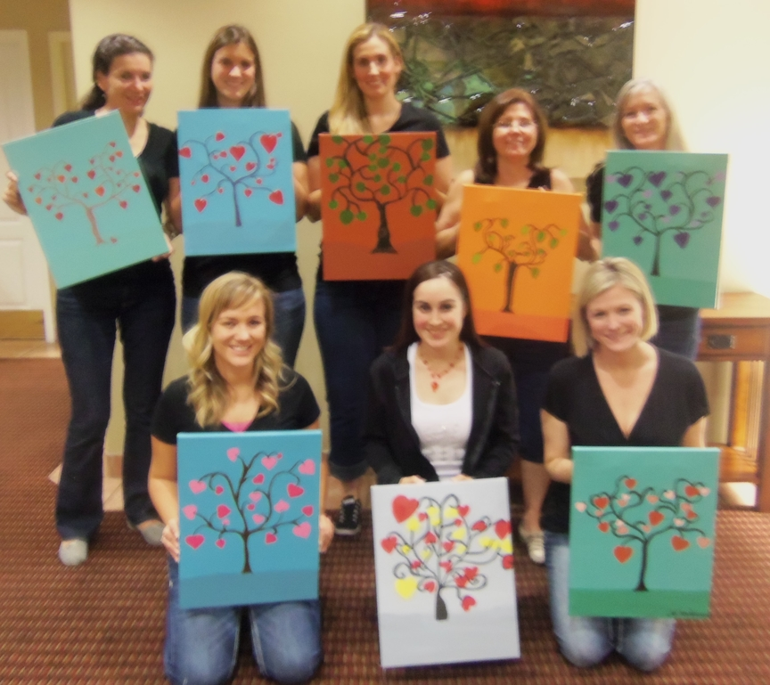 Girl's Painting Party in Sedona