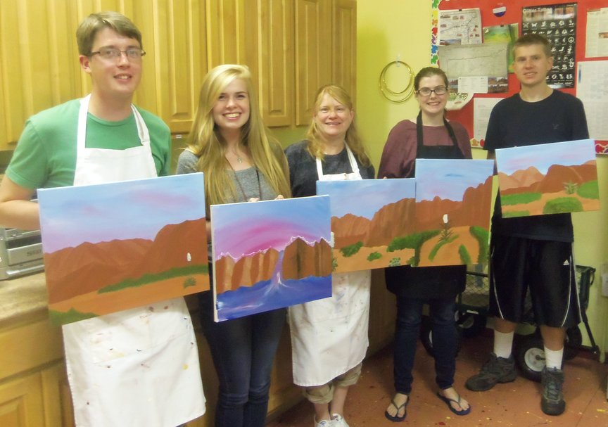 Painting on Sedona Vacation