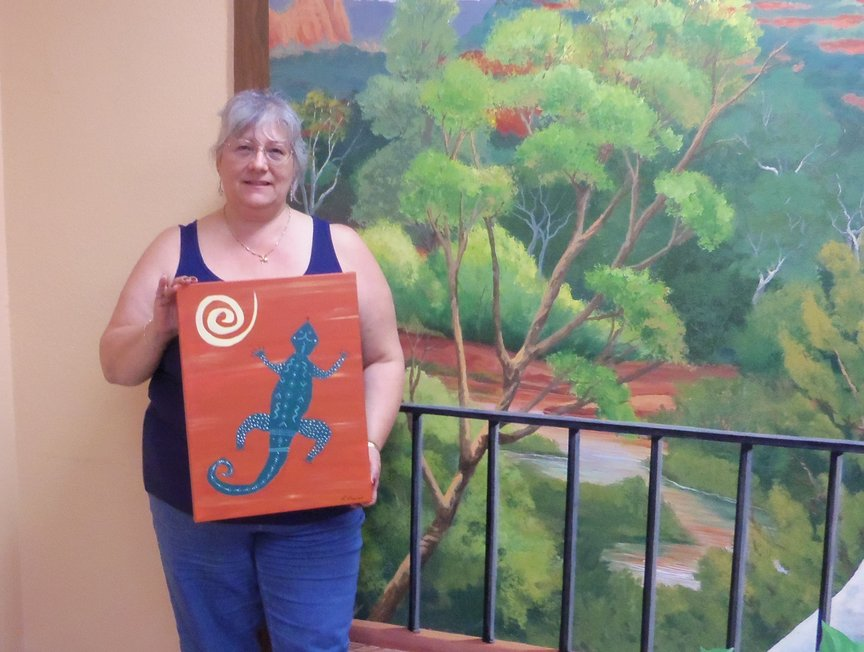 Painting a Gecko in Sedona