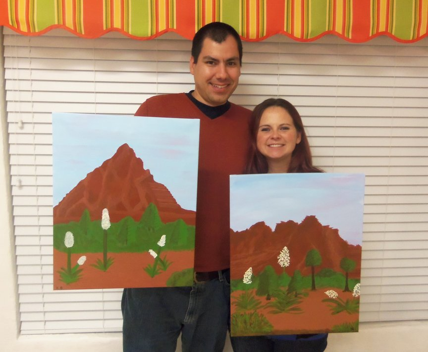Sedona vacation paint along