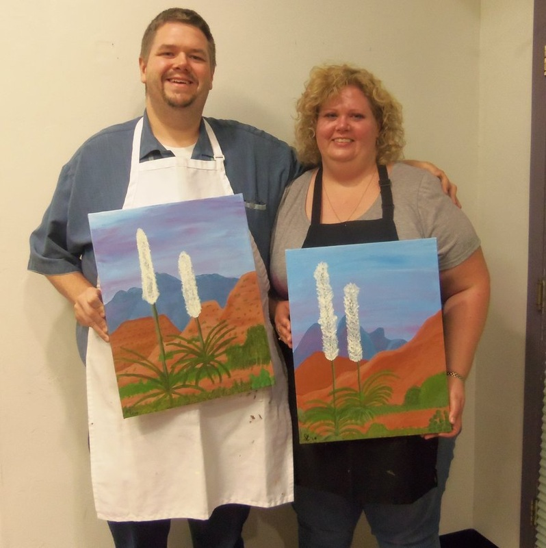 Painting in Sedona on an anniversary vacation
