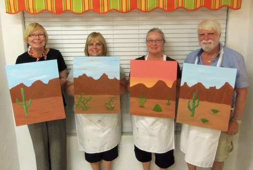 Sedona evening paint along entertainment