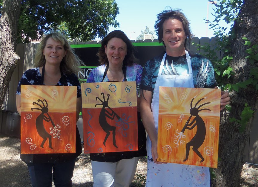 Paint Along For Fun at Vino Di Sedona on Saturday afternoon