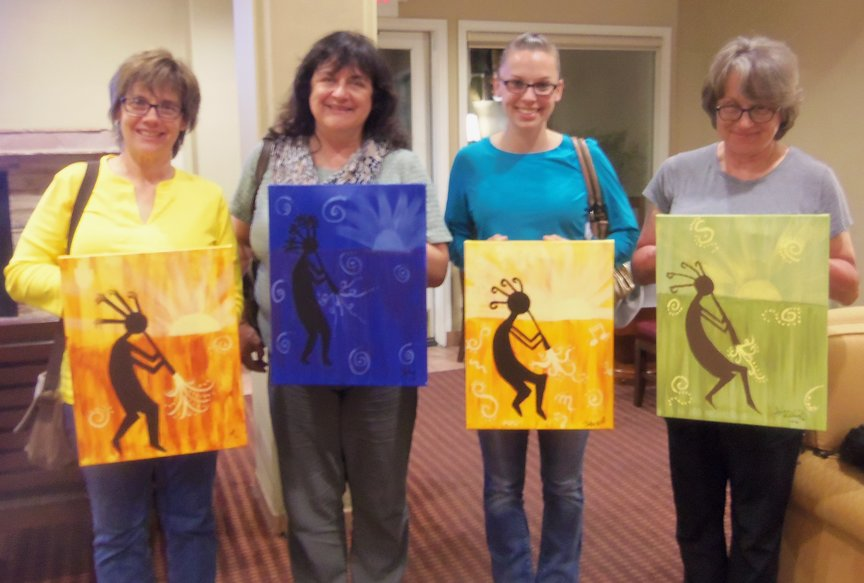 Sedona Vacationers at Paint Along For Fun Night
