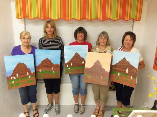 Sedona paint along for girl's night out
