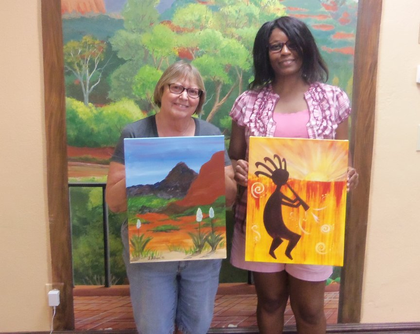 Painting fun in Sedona