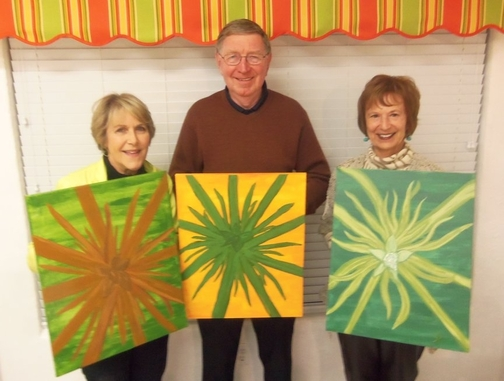 friends paint a memory in Sedona