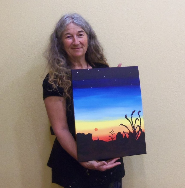 Painting a Sedona Memory with Artistic Creativity