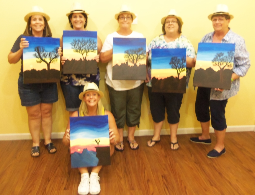 Birthday Party Group Painting for Fun in Sedona