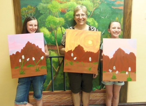 paintings of Red Rocks of Sedona