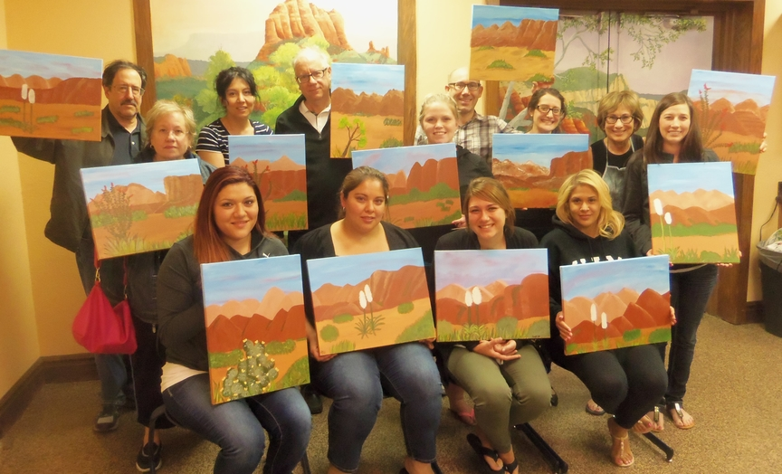 Sedona Vacation Paint-Along Fun