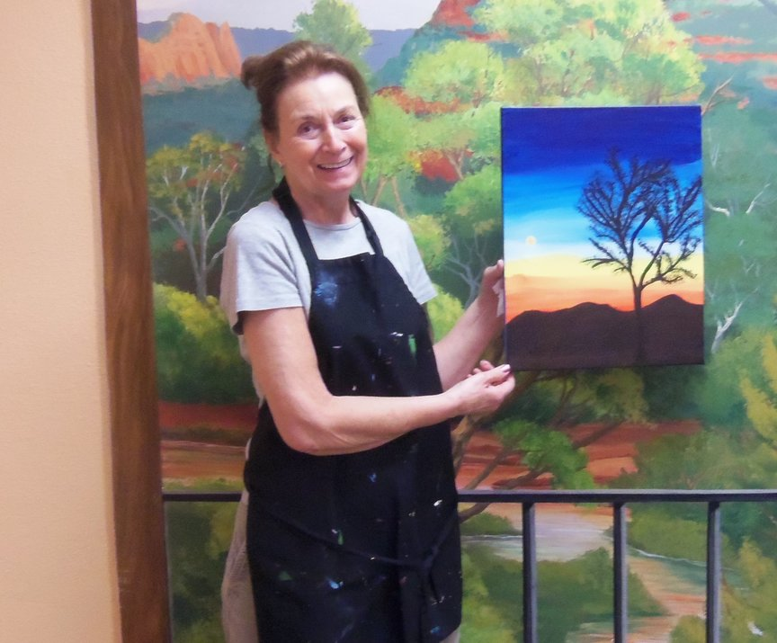 A First-time Painter's Experience in Sedona with Paint Along For Fun