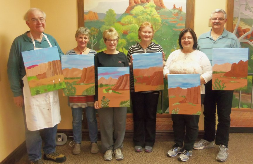 Social Painting while on vacation in Sedona