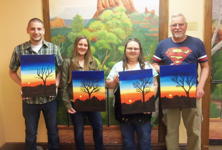 Family Vacation Fun at Paint Along For Fun in Sedona
