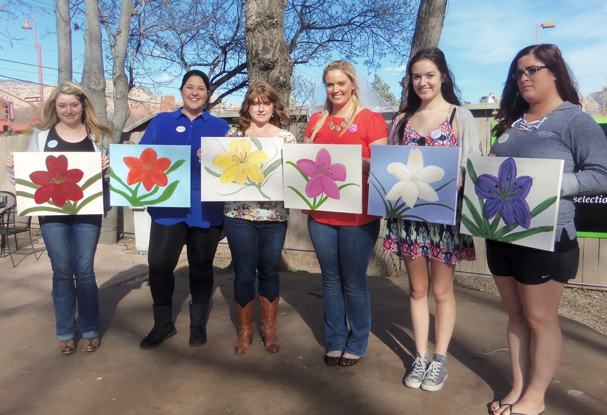Bachelorette Party Painting Fun at Vino Di Sedona