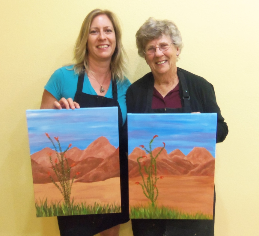 Painting the Sedona Mountains in Spring