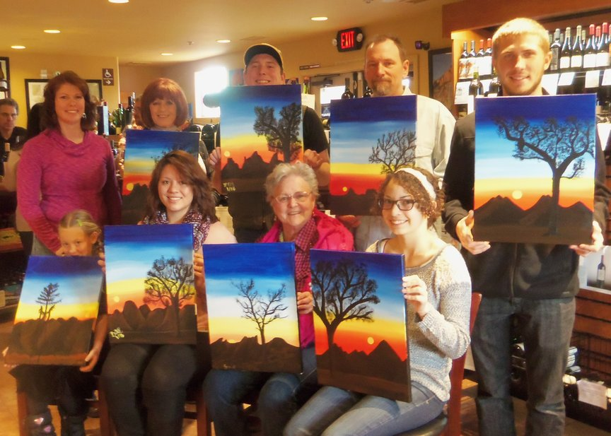 Family Paint Along Entertainment in Sedona