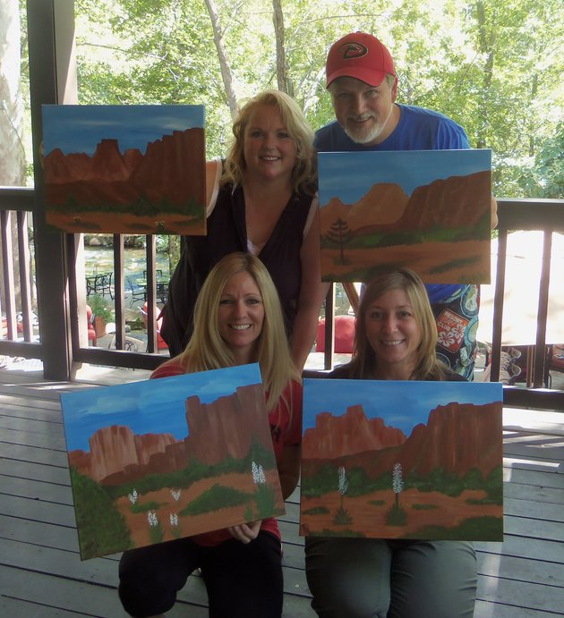 Paint Along in Sedona
