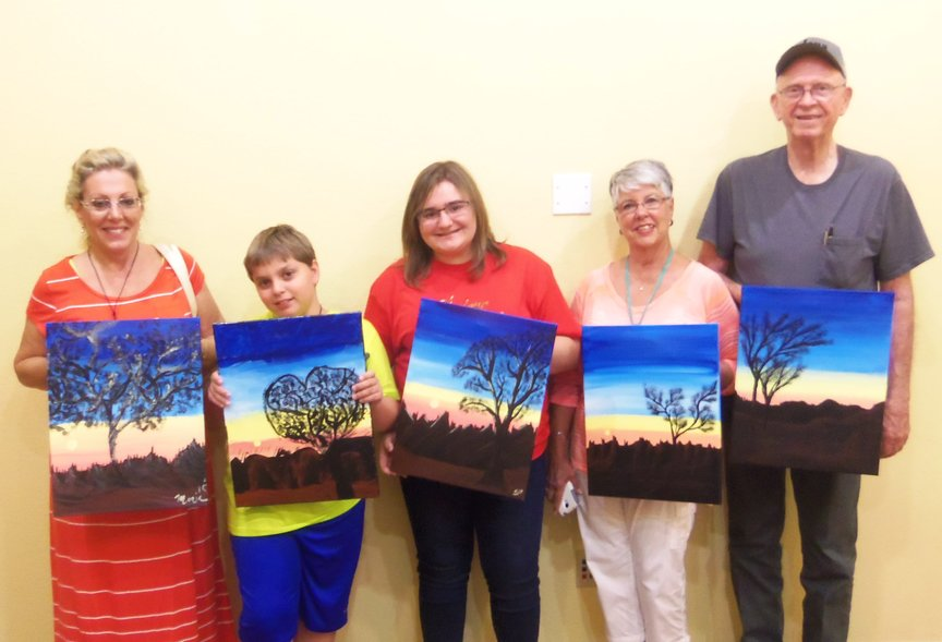 Painting group in Sedona