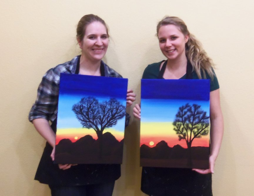Girlfriends Painting For Fun in Sedona