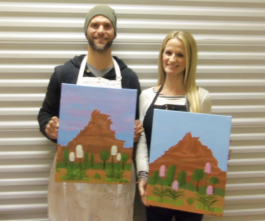 Painting in Sedona for entertainment