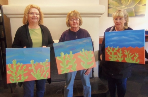 Painting the Prickly Pear in Sedona