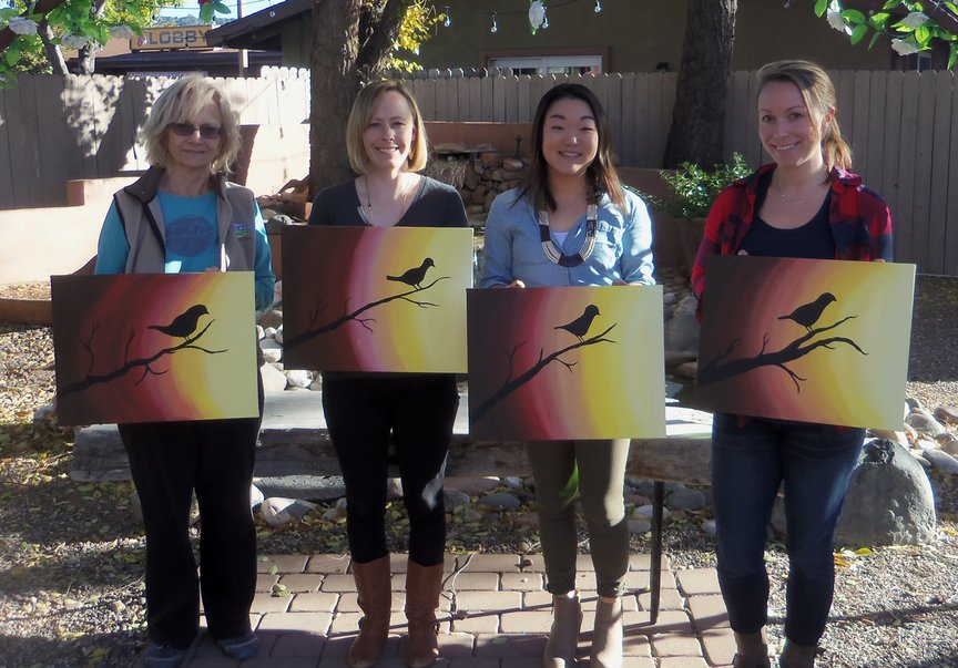 Afternoon Paint-along at Vino Di Sedona Wine Bar