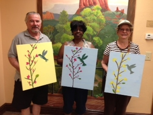 creating fun art in Sedona