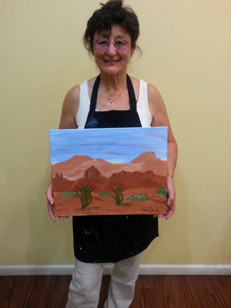 Painting for Fun on a Sedona Vacation