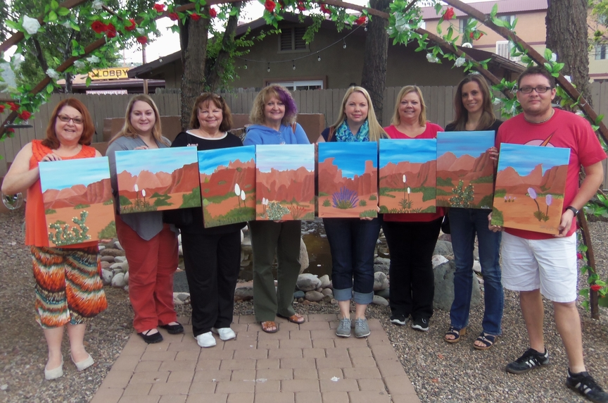 Afternoon of Social Painting in Sedona