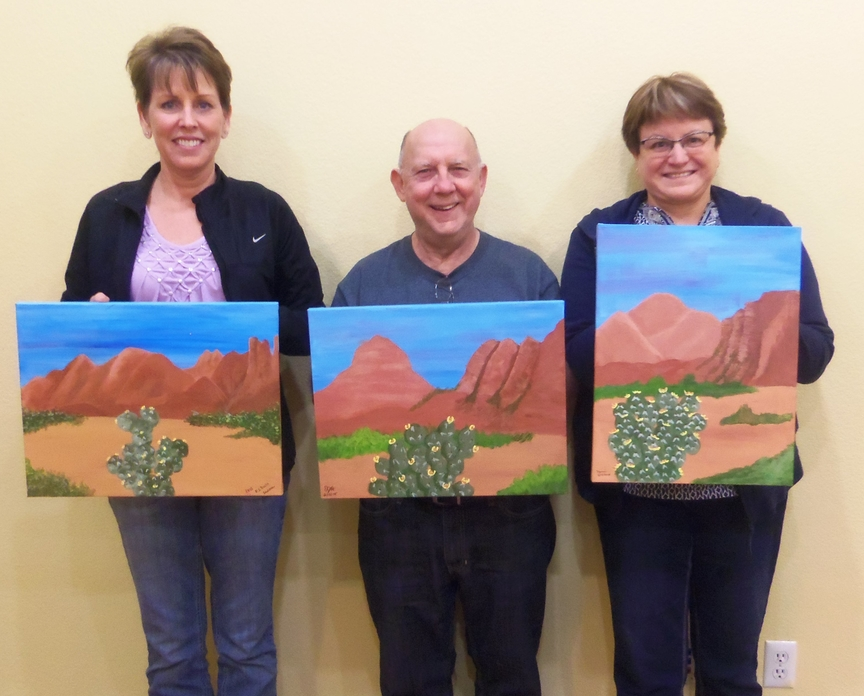 Painting in  Sedona