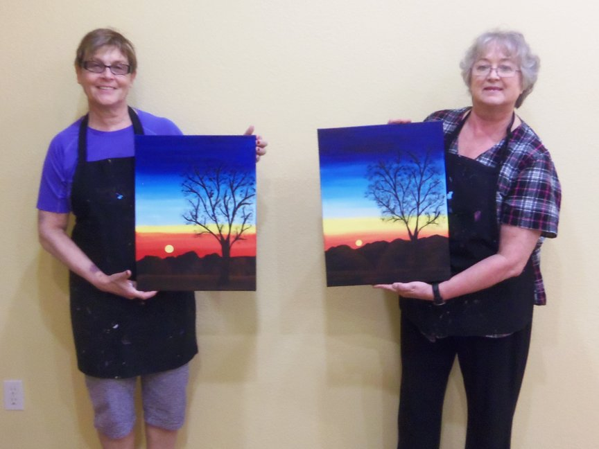 A new experience of painting with acrylics in Sedona