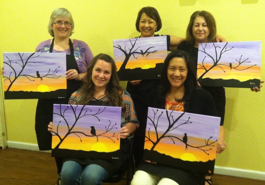 Celebrating Mothers' Day at Social Painting in Sedona
