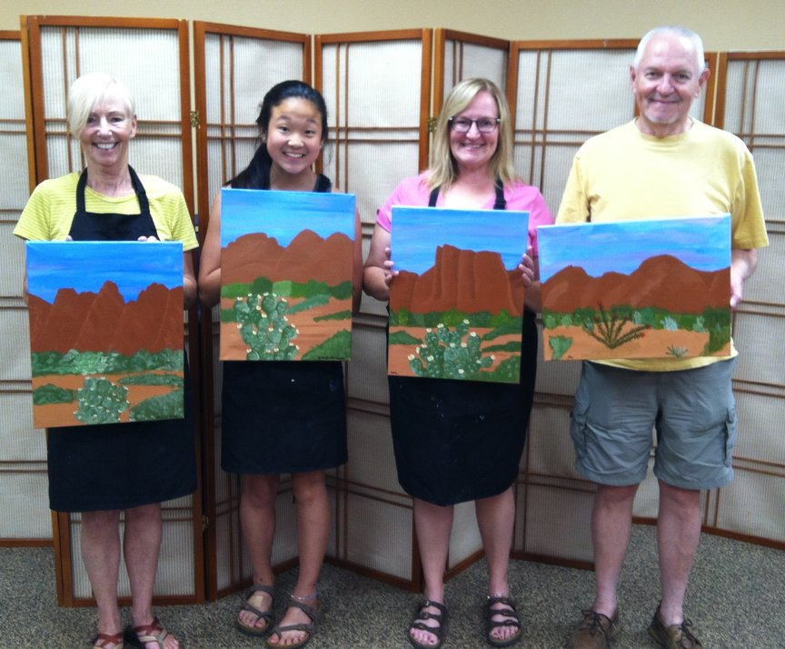 Painting a Sedona Landscape with Paint Along For Fun