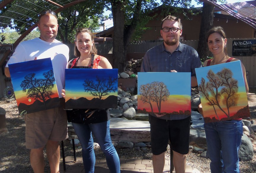 Afternoon Fun with Social Painting and Wine in Sedona