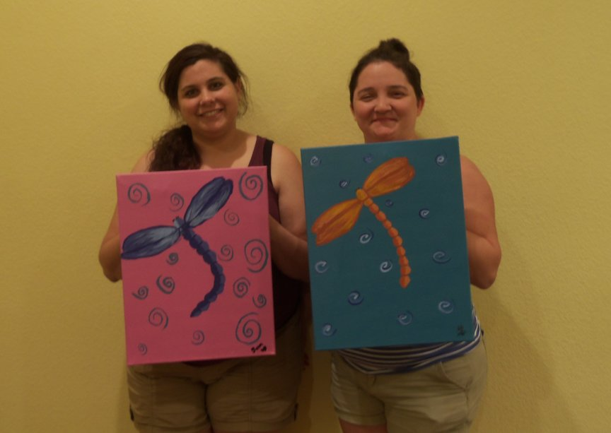 Colorful Dragonflies at Paint Along For Fun in Sedona