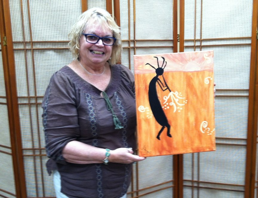 Wednesday evening's class with Paint Along For Fun at Los Abrigados Resort