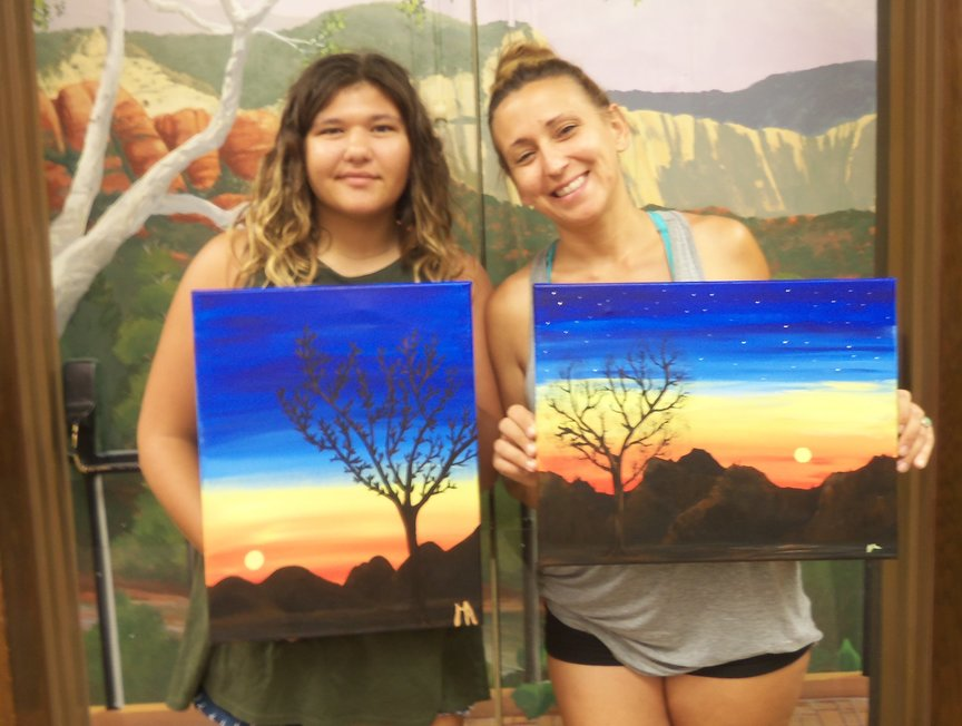 Painting on Vacation at Los Abrigados Resort in Sedona with Paint Along For Fun