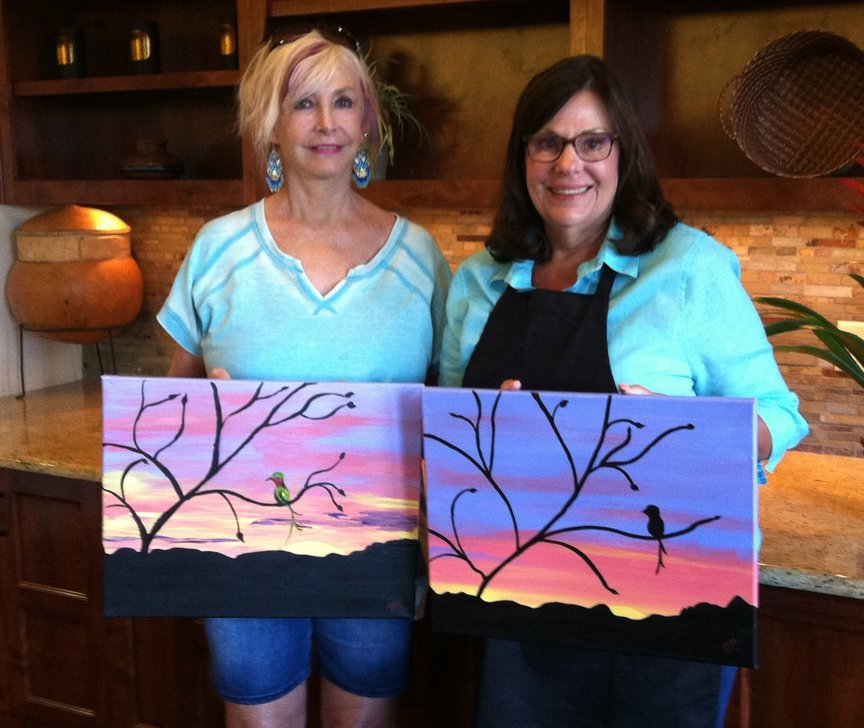 Social painting at the Hyatt Pinon Pointe with Paint Along For Fun