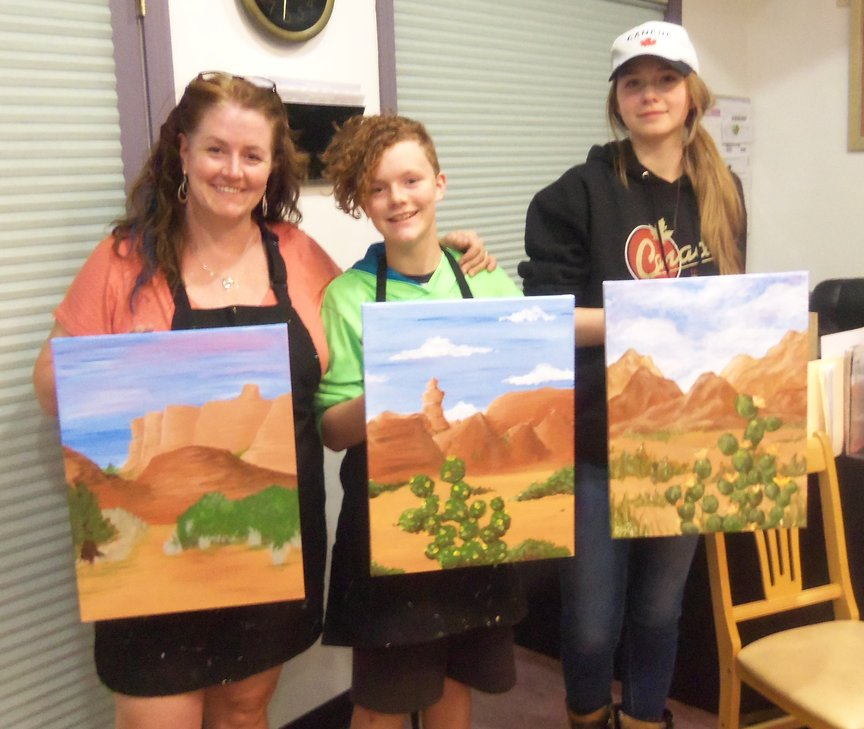 Social Painting at a resort in Sedona