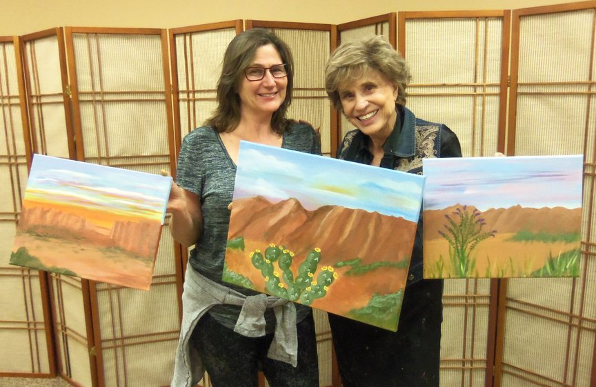 Social Painting Fun on a Family Vacation in Sedona