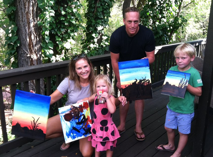 Private party at L'Auberge iin Sedona with Paint Along For Fun