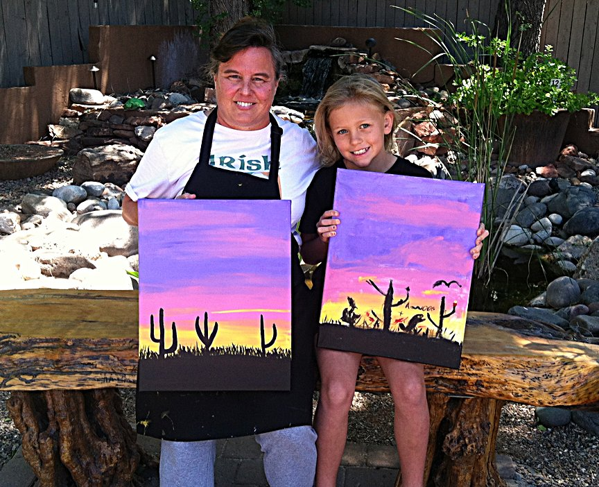 Social Painting at Los Abrigados Resort in Sedona
