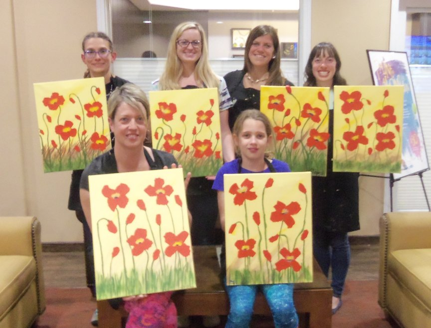 Painting Poppies at Paint Along For Fun in Sedona