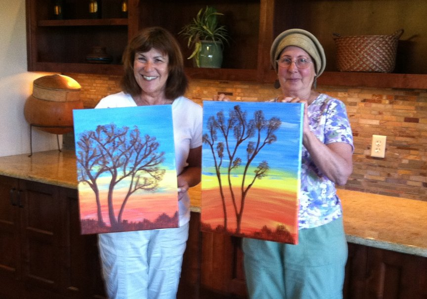 Step by Step Painting Class in Sedona