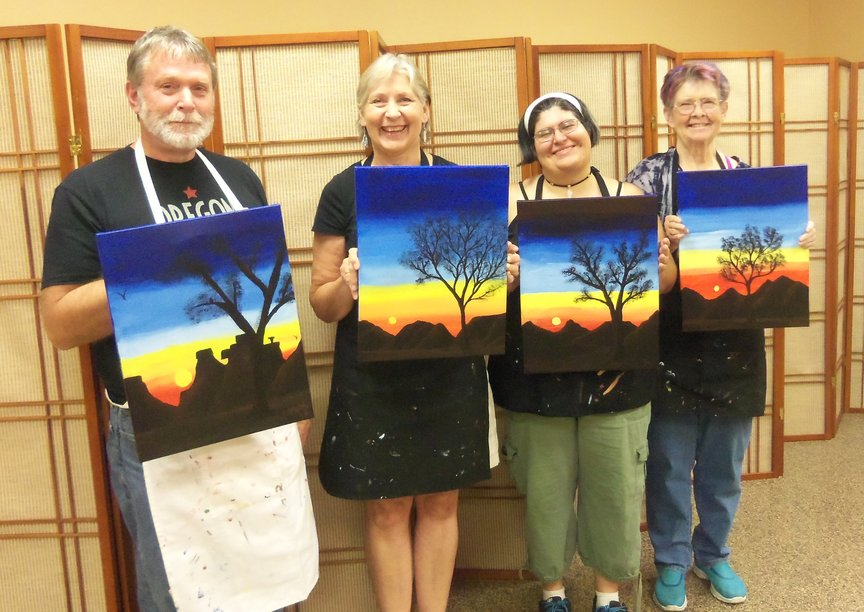 Paint for Fun in Sedona with lots of laughs and creativity.